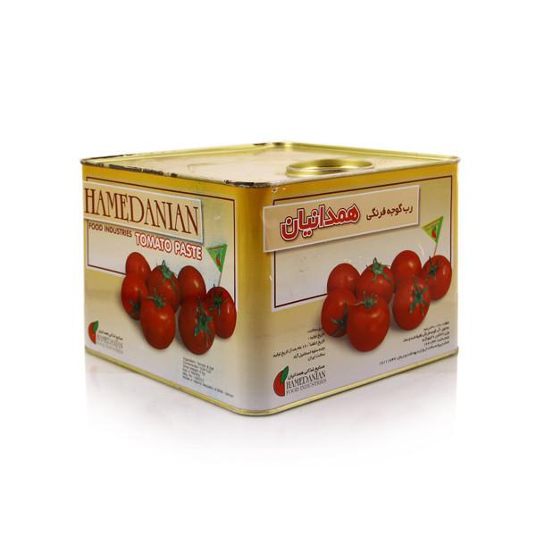 رب گوجه فرنگی همدانیان 9 کیلویی،عمده فروشی مواد غذایی،پخش مواد غذایی و بهداشتی،خرید مواد غذایی به قیمت کارخانه، سوپر مار