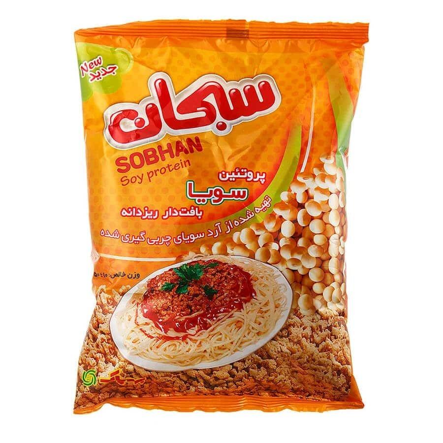 پروتئین سویا سبحان ۲۵۰گرمی، عمده فروشی مواد غذایی،پخش مواد غذایی و بهداشتی،خرید مواد غذایی به قیمت کارخانه